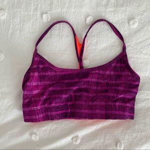 Reversible Purple and Orange Sports Bra